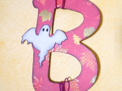 Halloween: Decorazione da parete Boo! - Boo wall decoration