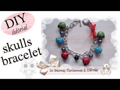 Halloween Tutorial: Come realizzare un bracciale con perle e teschi. (coll. con TheSaraMakeup)