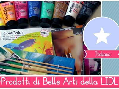 Materiali per Belle Arti LOW COST: Acrilici, tele e pennelli ECONOMICI della LIDL (Prove su strada)