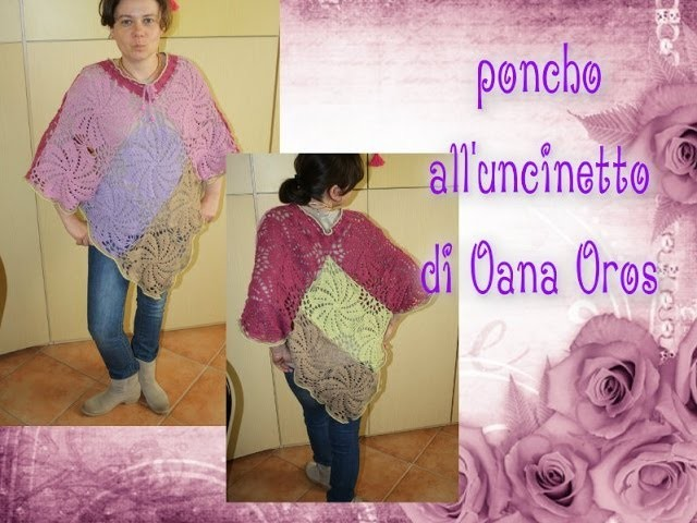 Poncho all'uncinetto