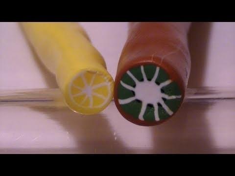 Tutorial: Canes di Fimo di alcuni frutti ( kiwi e limone) (polymer clay tutorial)
