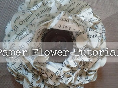 Vintage Paper Flower - Tutorial