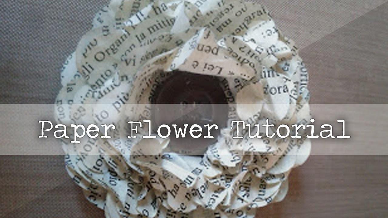 Vintage Paper Flower - Tutorial