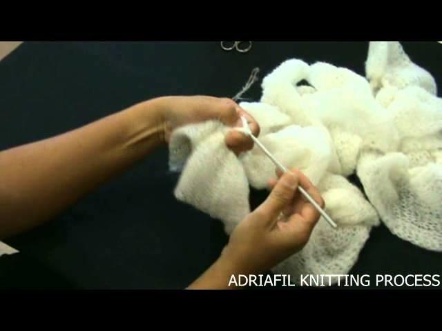 Voilà yarn for easy scarf ADRIAFIL