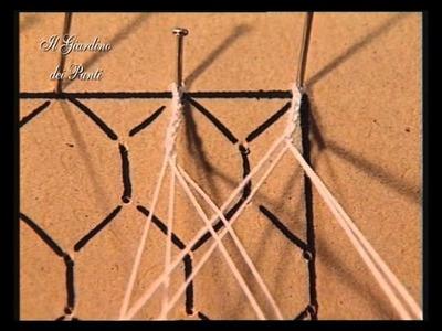 2 corso di pizzo al tombolo - rete esagonale