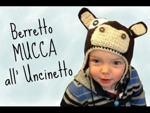 "Berretto ""mucca"" all'Uncinetto"