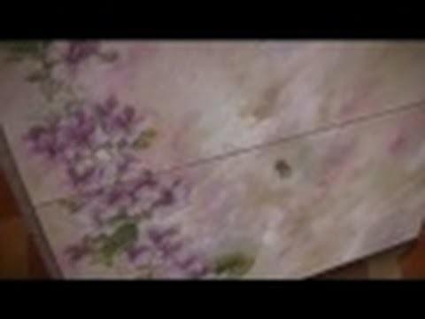 Decoupage scarpiera ,decopage su legno tutorial
