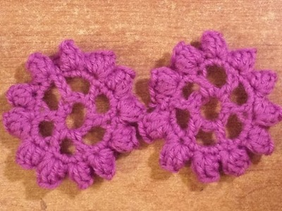 Fiore all'uncinetto - Tutorial uncinetto: ruota fiorita