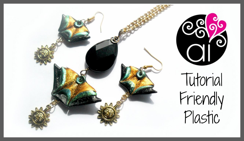 Friendly Plastic Tutorial | Triangoli | Componenti Decorativi per bijoux