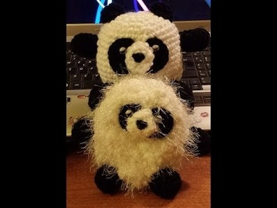 Panda all'uncinetto amigurumi - Tutorial passo a passo