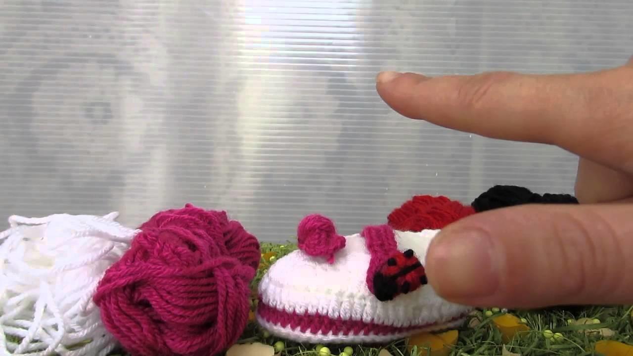 Scarpette ballerina realizzate a uncinetto con filati in lana!! Coccinelle Creative.