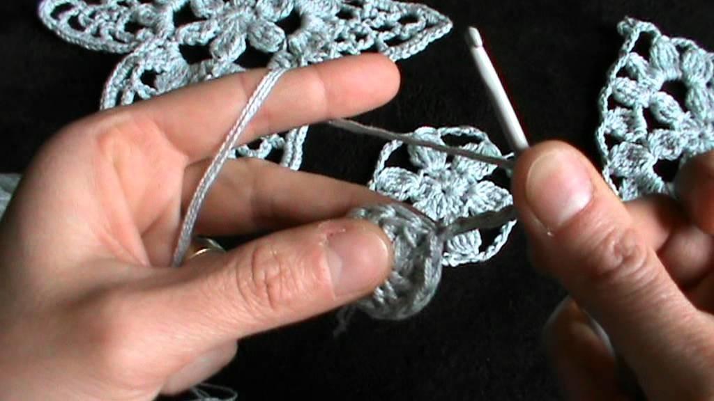 Tre motivi  per patchwork all'uncinetto prima parte il fiore base.mpg