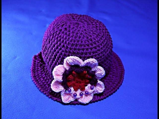 Tutorial cappello viola a uncinetto - 2° parte