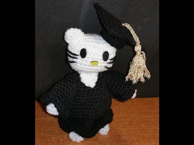 Tutorial hello Kitty laurea amigurumi - uncinetto - parte II di II