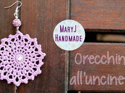 Tutorial orecchini all'uncinetto | Deep Purple