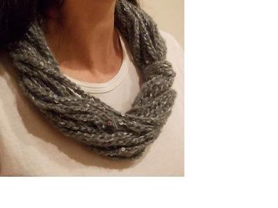Uncinetto - Collana Scaldacollo Semplice Solo Punto Catenella - Crochet Simple Necklace Scarf