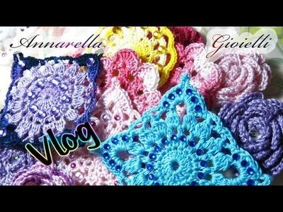 Vlog creativo 2 | Brillantini, inamidature, roselline, farfalle, orecchini uncinetto.