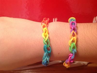 Tutorial: braccialetto rainbow loom a catena singola per principianti *--* [Spiegazione in italiano]