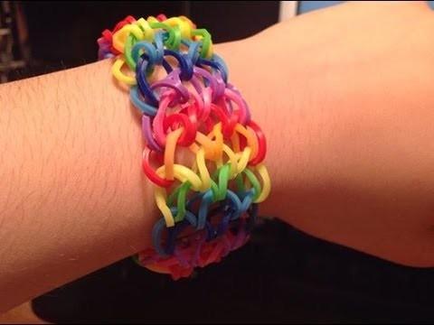"""Tutorial: Braccialetto rainbow loom """"scaglie di drago"""" [[Spiegazione in Italiano]]"""