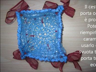 TUTORIAL:come realizzare un cestino porta oggetti con la fettuccia FAI DA TE