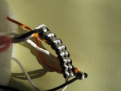 Corda con uncinetto. a 4 fili