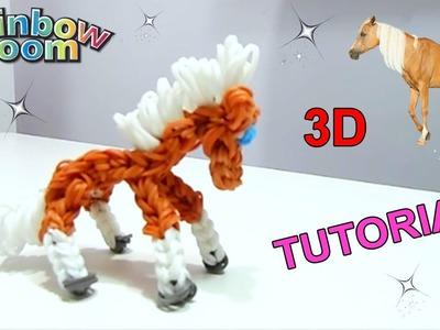"""Tutorial Cavallo 3D con Elastici Rainbow Loom """"Caballo En 3D Con Gomitas"""""""