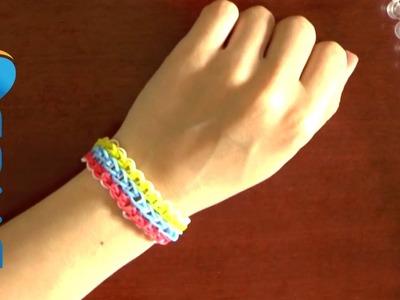 Come fare braccialetti elastici tripli con Rainbow loom