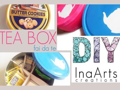DIY TEA BOX. PORTA TE'  FAI DA TE
