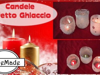 Natale Fai da Te - Candele Effetto Ghiaccio. diy candles ice affects