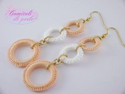 """Orecchini e anelli creazioni by """"Gomitoli di perle"""""""