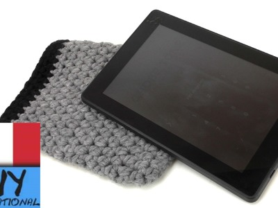 Borsetta all'uncinetto - Borsetta per tablet or ebook reader ad uncinetto, facile