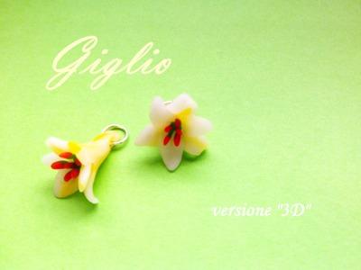 """Giglio. Lilium in pasta polimerica (Fimo, Cernit, Premo, Kato) - Versione """"3D"""""""