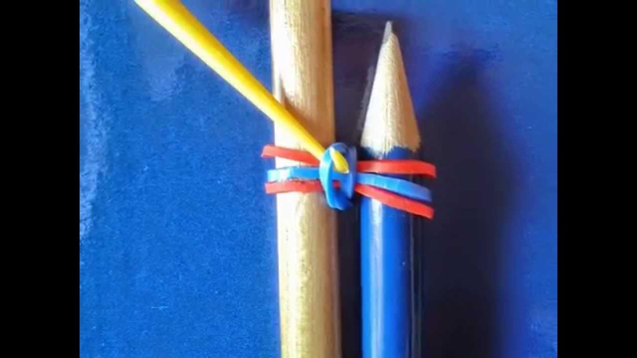 Rainbow Loom - Braccialetto con elastici a catenella tripla senza telaio
