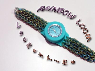 "♥Tutorial Braccialetto Elastici Con Orologio Loomey Time ""Rainbow Loom""♥"