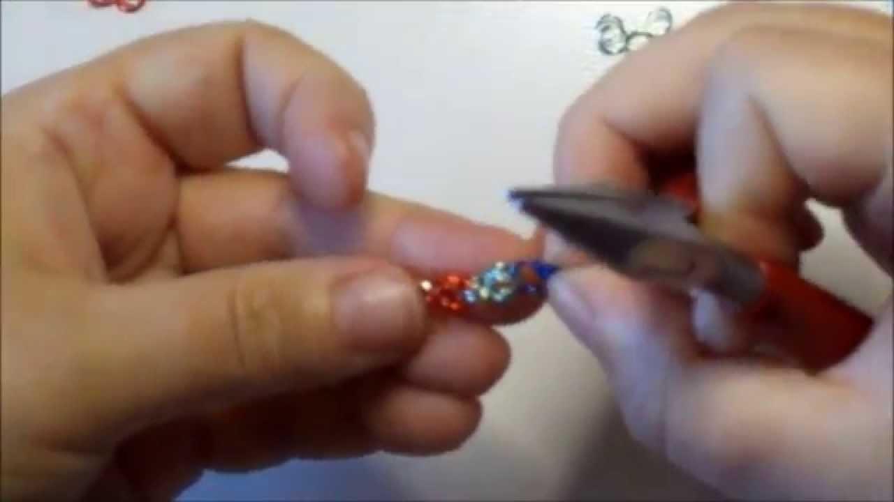 Microchainmail tutorial  bracciale  mezza bizzantina con anellini creati da mè