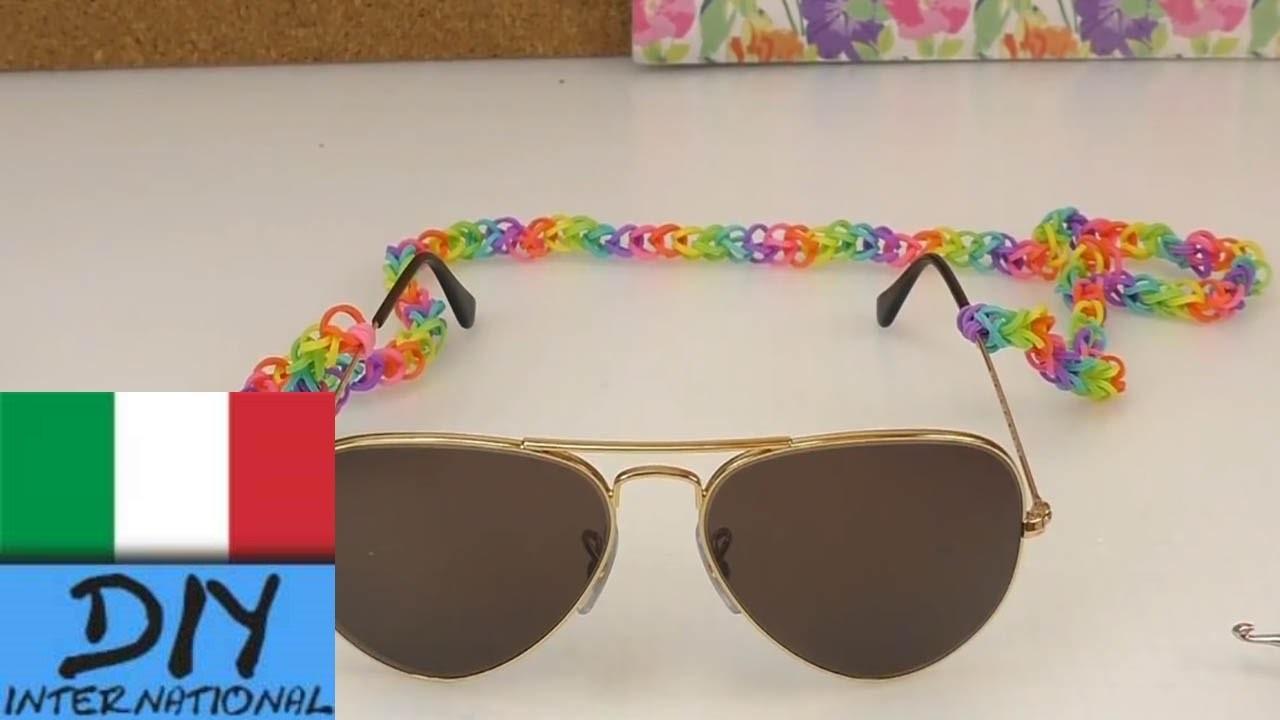 Occhiali da sole elastici arcobaleno - loom bands