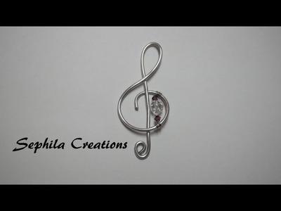 Tutorial: Ciondolo a chiave di violino (treble clef) [sub-eng]