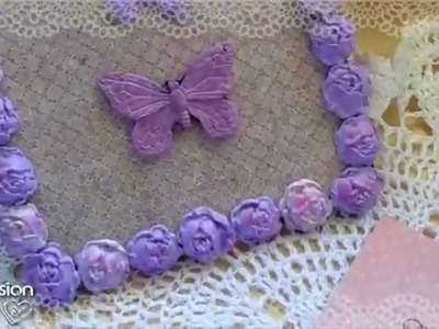 Tutorial: Quadretto Shabby Chic con Fimo | Riciclo Creativo |