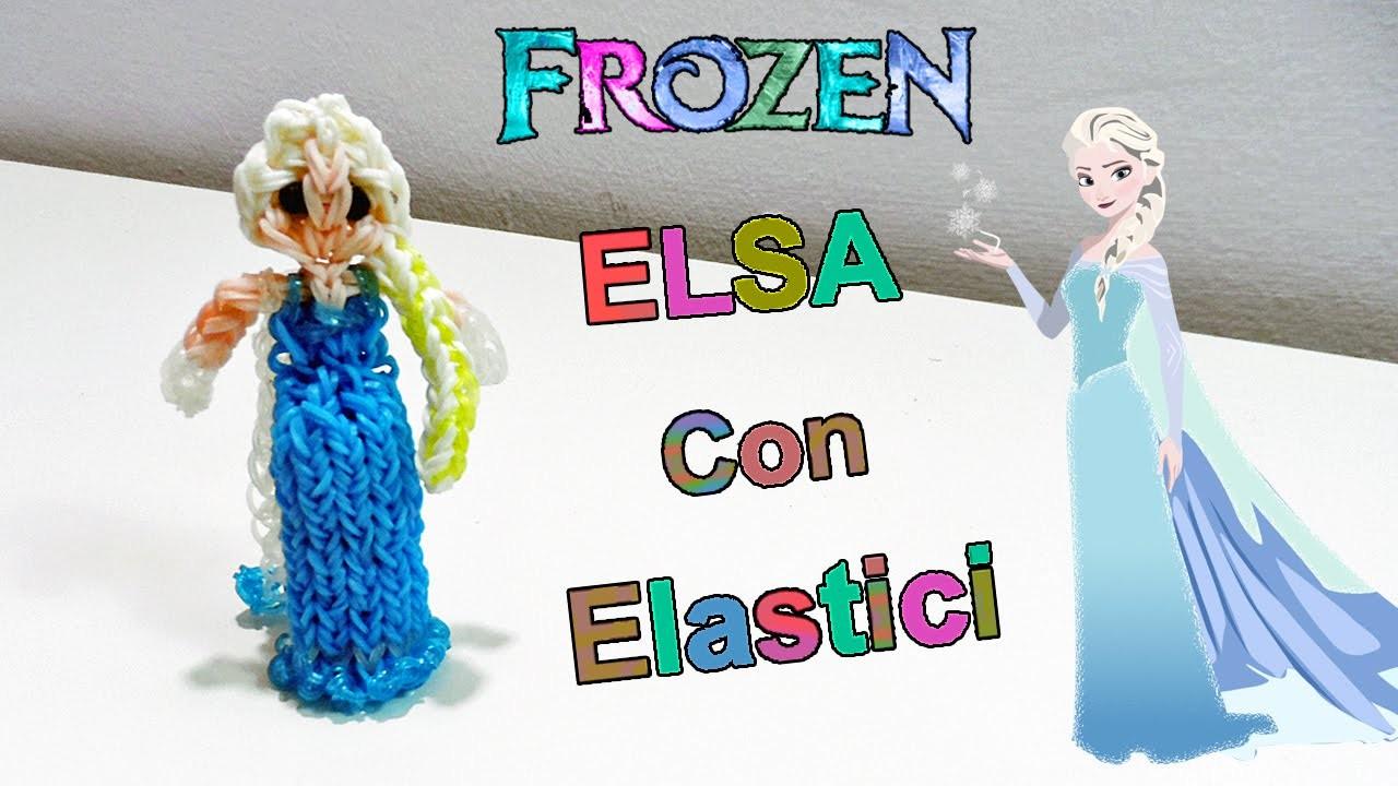 """Tutorial Elsa Frozen 3D Con Elastici Rainbow Loom """"Queen Elsa Charm.Princess""""♥"""