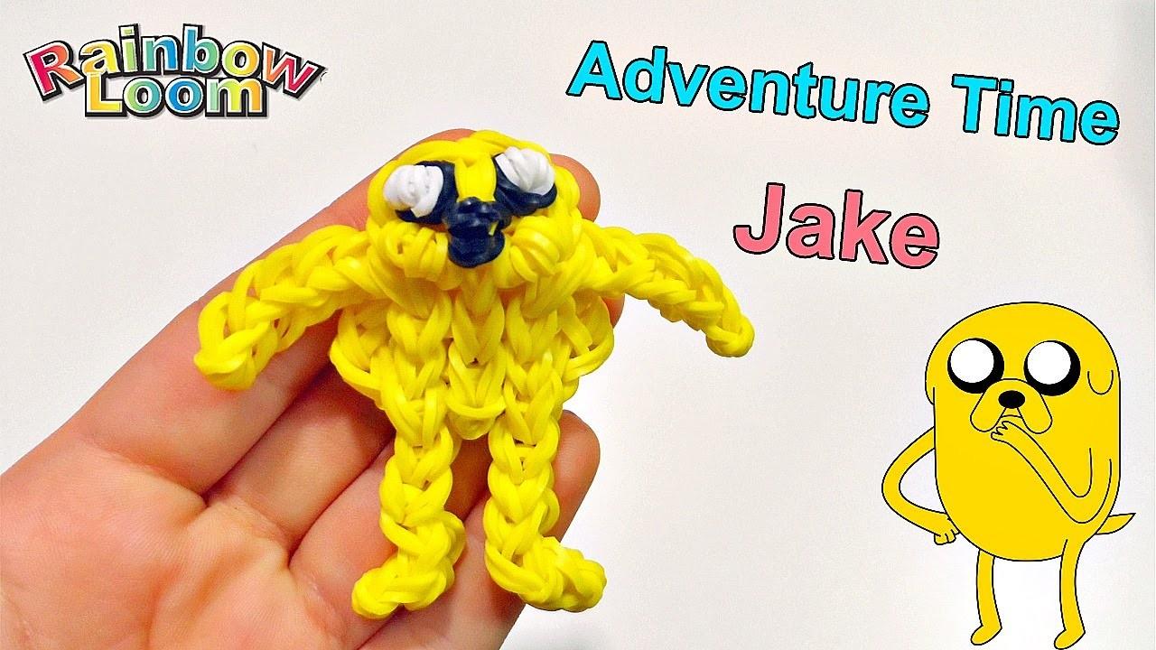 Tutorial Jacke Adventure Time con Elastici Rainbow Loom.Jake de Hora de Aventuras con Gomitas