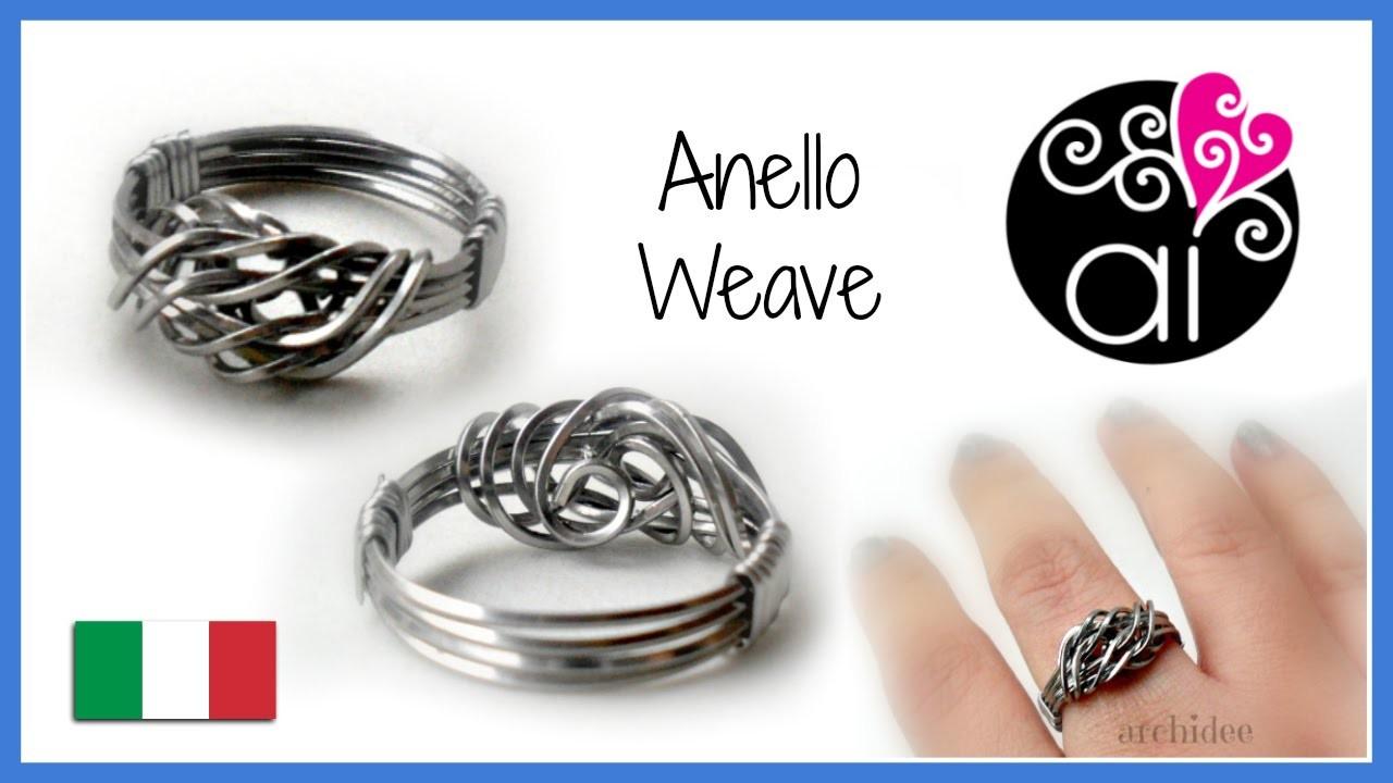 Tutorial Wire | Anello Weave in acciaio inox | in collaborazione con Perles&Co.