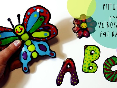 Tutorial Bambini Creativi: Colori riposizionabili ATTACCA e STACCA per vetrofanie FAI DA TE