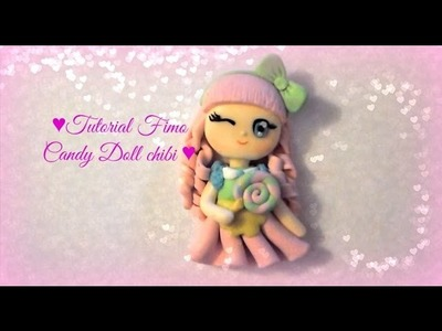 Tutorial Fimo Candy Doll chibi - Polymerclay tutorial chibi candy doll