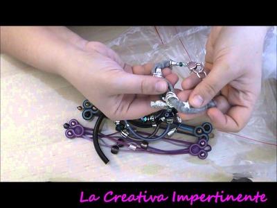 Video Creazioni - Bracciali Soutache, fettuccia, regaliz, memory, caucciù, ciondoli, segnalibro