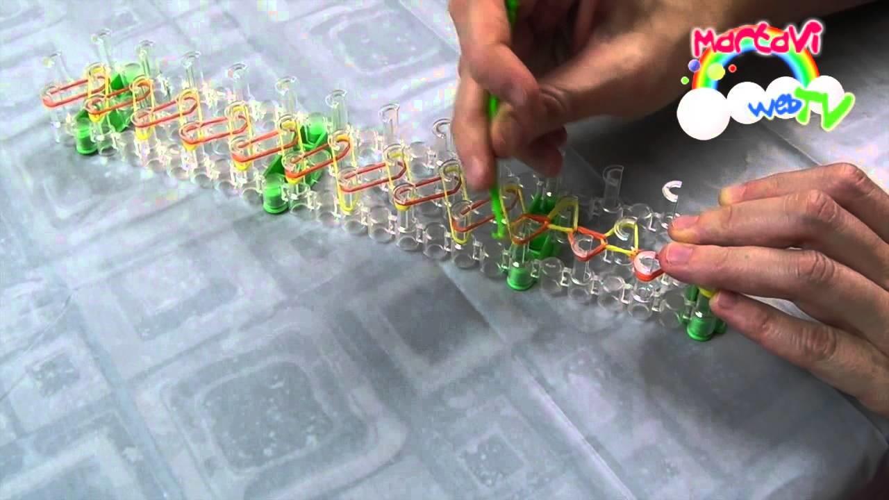 Braccialetti elastici - 2. La catenella con telaio (senza giuntura)