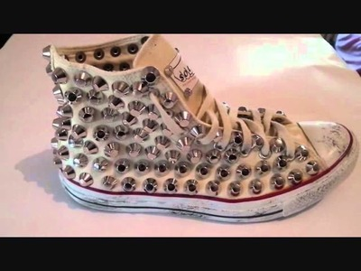 "STYLE ""SOLO"" CUSTOMIZZAZIONE ALL STAR SPIKED STUDD NIKE ADIDAS video30vint30"