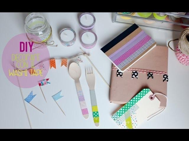 DIY: Decorare con il Washi Tape ♥ 8 semplici idee ♥