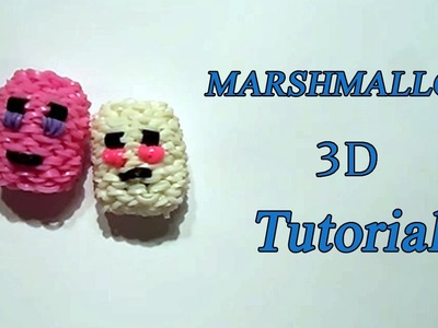MARSHMALLOW 3D SQUISHY CON ELASTICI LOOM TUTORIAL !