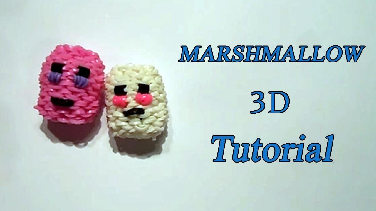 MARSHMALLOW 3D SQUISHY CON ELASTICI LOOM TUTORIAL !
