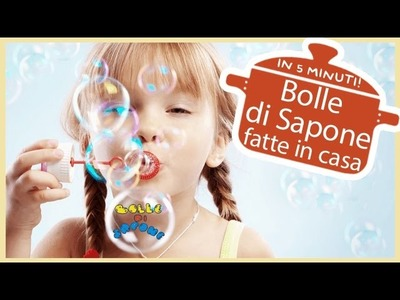 DIY: Bolle di Sapone fatte in casa in 5 minuti | Soap Bubbles | Baby Kitchen